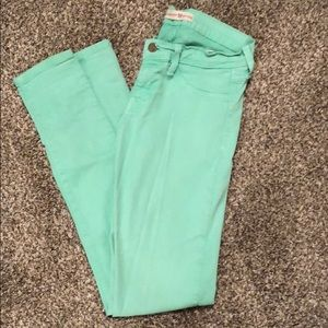 Light blue green jeans